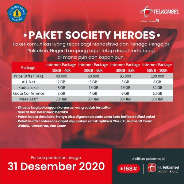 """Kerjasama Polinela dan Telkomsel """"Paket Society Heroes"""""""